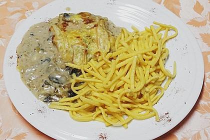 Putenschnitzel mit Champignonkruste überbacken 21