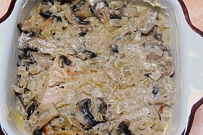 Putenschnitzel mit Champignonkruste überbacken 41