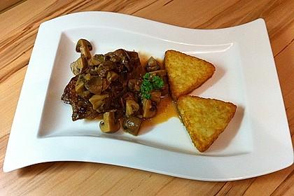 Putenschnitzel mit Champignonkruste überbacken 8