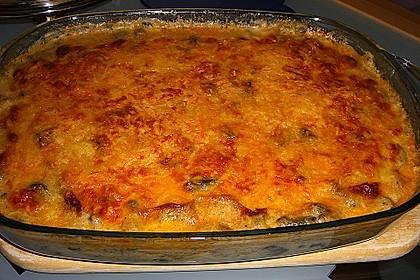 Putenschnitzel mit Champignonkruste überbacken 1