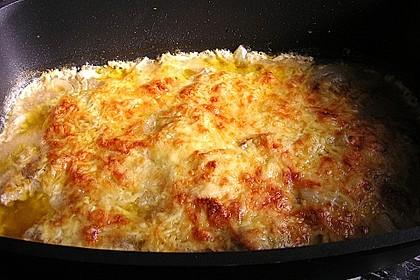 Putenschnitzel mit Champignonkruste überbacken 7