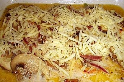 Putenschnitzel mit Champignonkruste überbacken 34