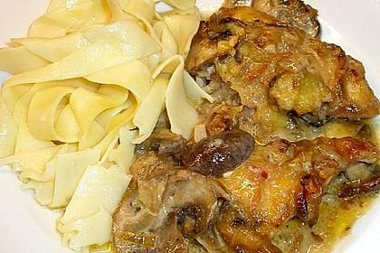 Putenschnitzel mit Champignonkruste überbacken 9