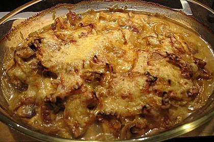 Putenschnitzel mit Champignonkruste überbacken 24