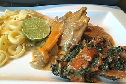 Putenschnitzel mit Champignonkruste überbacken 11
