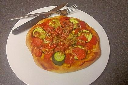 Marinas Pizzateig mit Backpulver 10