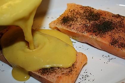 Gratinierter Lachs mit Orangen - Hollandaise 24