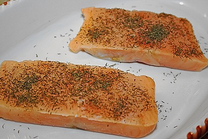 Gratinierter Lachs mit Orangen - Hollandaise 26