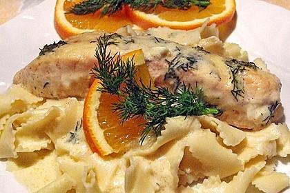 Gratinierter Lachs mit Orangen - Hollandaise 22