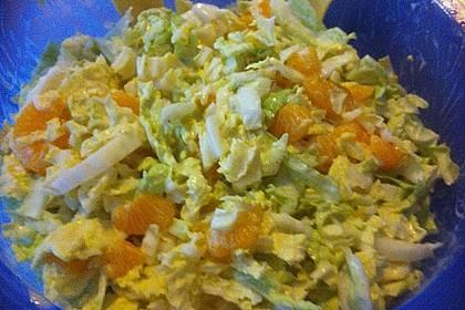 Chinakohl mit Mandarinchen und Curry 11