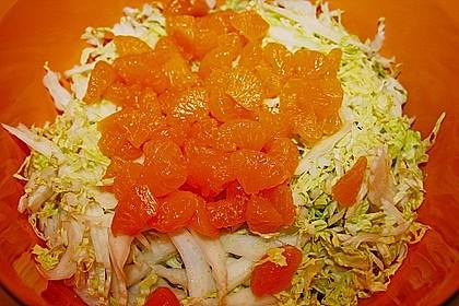 Chinakohl mit Mandarinchen und Curry 12
