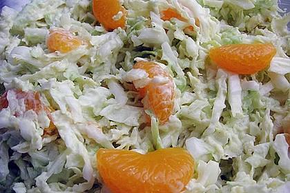 Chinakohl mit Mandarinchen und Curry 4