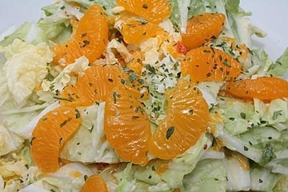 Chinakohl mit Mandarinchen und Curry 8