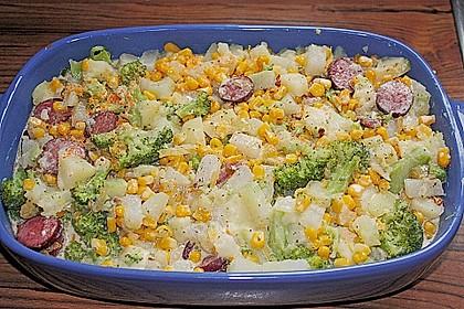 Saftiger Kartoffel - Gemüse - Auflauf 11