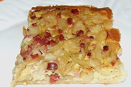 Pfälzer Zwiebelkuchen mit Blätterteig 7