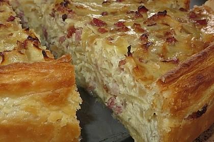 Pfälzer Zwiebelkuchen mit Blätterteig 1