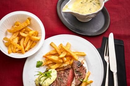 Für echte Kerle: Das perfekte Rumpsteak - saignant (englisch) mit Sauce Béarnaise und Pommes 8