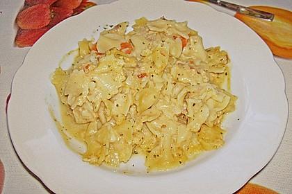 Nudeln mit Schmelzkäse - Räucherlachs - Soße 25