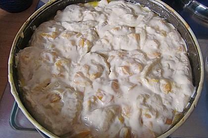 Pfirsich - Quark - Rosenkuchen 1