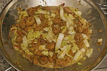 Wok - Hähnchen mit Chinakohl 12