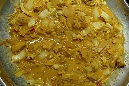 Wok - Hähnchen mit Chinakohl 5