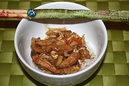 Wok - Hähnchen mit Chinakohl 11