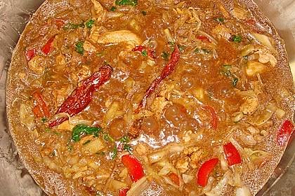 Wok - Hähnchen mit Chinakohl 6