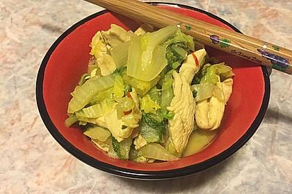 Wok - Hähnchen mit Chinakohl 2