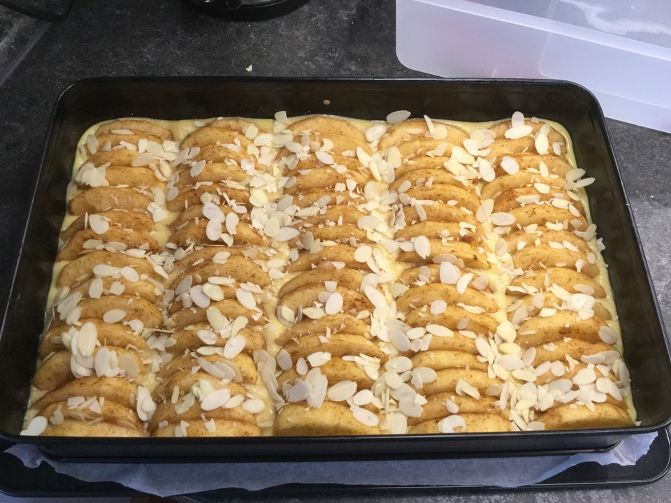 Schneller Apfelkuchen Auf Dem Blech Von Vonkrolock Chefkoch De