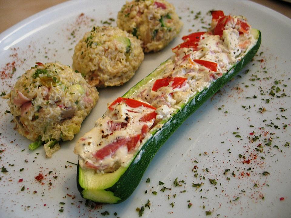 Gefüllte Zucchini Mit Kräuterfrischkäse Von Der Rotter Chefkochde