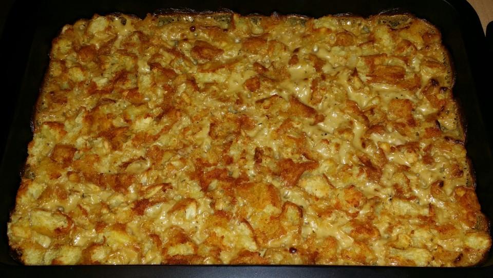 Putenschnitzel In Käse Lauch Sauce Mit Rösti überbacken Von