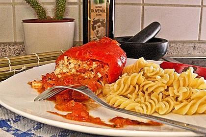 Überbackene Spitzpaprika mit Käsefüllung 23