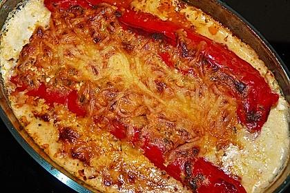 Überbackene Spitzpaprika mit Käsefüllung 14