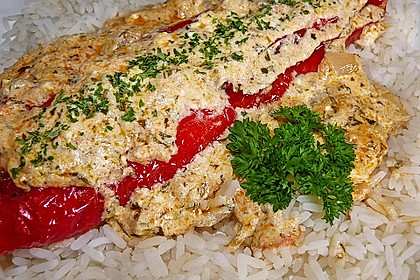 Überbackene Spitzpaprika mit Käsefüllung 42