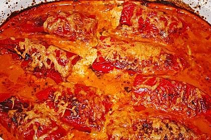 Überbackene Spitzpaprika mit Käsefüllung 39