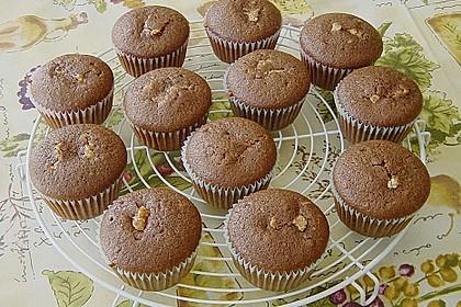 Schokoladen - Muffins mit Erdnussbutterkern 7