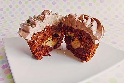 Schokoladen - Muffins mit Erdnussbutterkern 3