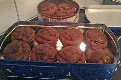 Schokoladen - Muffins mit Erdnussbutterkern 21