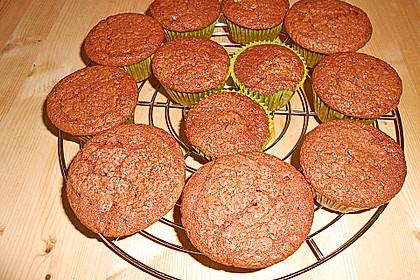 Schokoladen - Muffins mit Erdnussbutterkern 19