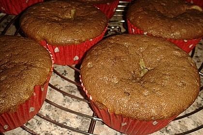 Schokoladen - Muffins mit Erdnussbutterkern 17