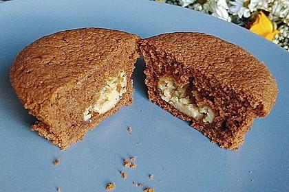 Schokoladen - Muffins mit Erdnussbutterkern 14