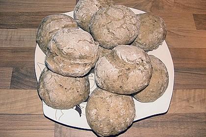 Kartoffel - Rosenbrötchen mit Dinkel 58