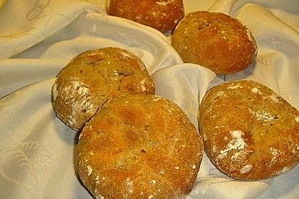 Kartoffel - Rosenbrötchen mit Dinkel 47