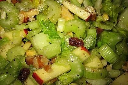 Salat vom Stangensellerie mit Nüssen und Äpfeln 3
