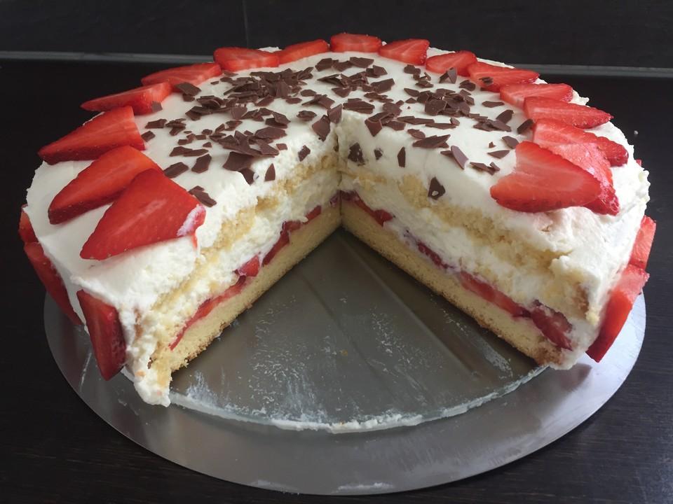 Erdbeer Quark Sahne Torte Von Catfisch Chefkoch De