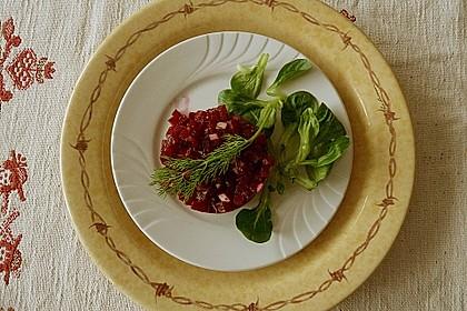Tatar von Rote Bete mit Feldsalat 7