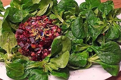 Tatar von Rote Bete mit Feldsalat 5