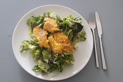 Gebratene Austernpilze in Käse - Ei - Hülle (Bild)