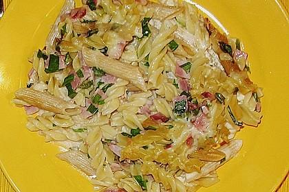 Bärlauch - Schinkennudeln mit Käse überbacken 5