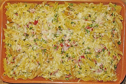 Bärlauch - Schinkennudeln mit Käse überbacken 12